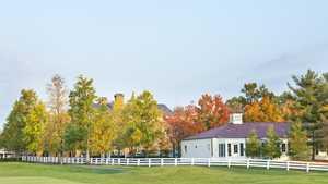 New Albany CC: Golf cart barn