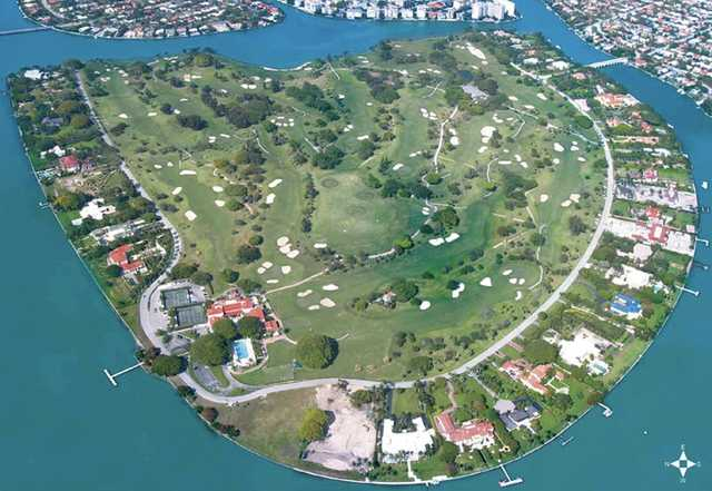 Aerial View Of Indian Creek Country Club Miami Beach