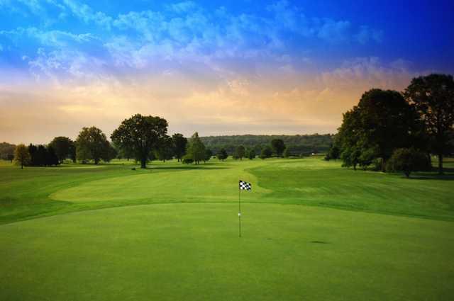 Regulation At Reeves Golf Course In Cincinnati Ohio Usa