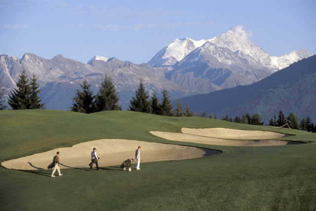 Image result for Crans-sur-Sierre Golf Club, Switzerland