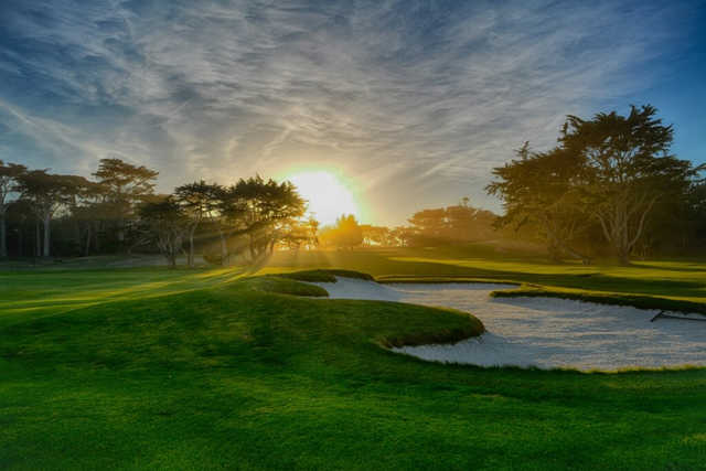 A Splendid Sunny Day View From Cypress Point Club