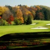 A fall day view of a fairway at Bloomfield Hills Country Club.