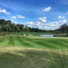 View of a green at Hawk's Landing Golf Club