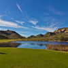 A view of the lake on the ninth hole of the Sky Course at Lost Canyons Golf Club.