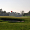 A view of the 13th hole and bunker at Discovery Bay Country Club