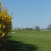 A spring view of a green at Potsdamer Golf Club