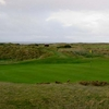 A view of the 2nd green at Western Gailes Golf Club