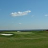 A view of the 4th green protected by bunkers at Hilltop Golf Club