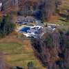 Aerial view of the clubhouse and swimming pool at Aquia Harbor Golf & Country Club