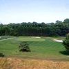 A view of the 2nd hole protected by bunkers at Falls Road Golf Course