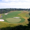 A view of the 1st green at Falls Road Golf Course