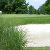 A view of the 9th green at Belk Park Golf Course