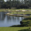 A view from a tee at North/South Course from Plantation Bay Golf and Country Club