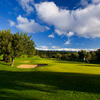 A view of green with bunkers on the left at Pestana Golf Resort - Vale da Pinta Course