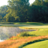 A view of green #15 with water coming into play at Bull at Pinehurst Farms