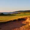 A view of the 16th green at Cabot Links