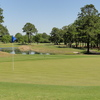 A view of green with water coming into play at Pine Crest Golf Club