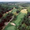 Aerial view of hole #1 and #2 at Highland Green Golf Club