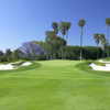 A view of green #18 protected by bunkers at Saticoy Country Club