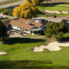 Aerial view of the clubhouse at Moffett Field Golf Club
