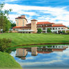 A view of the clubhouse at Broadmoor Golf Club