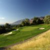 A view of green protected by bunkers at Mount Ogden Golf Course (Brian Oar/Utah Golf Guide)