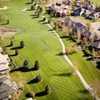 Aerial view of tee, fairway #18 at Mariana Butte Golf Course