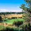 A view of green protected by bunkers at Pinery Country Club
