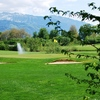 A view of the 3rd green at 9 Hole Pitch & Putt Course from Thunersee Golf Club