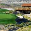 A view of green #7 at Laughlin Ranch Golf Club