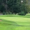 A view of the 1st green at Cedarcrest Golf Course