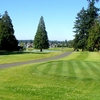 A view of fairway #2 from tee at Tapps Island Golf Course