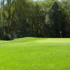 A view of green #17 at Logan River Golf Course