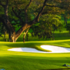 A view of green protected by bunkers at Manila Golf & Country Club