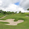 A view of green protected by bunkers at South Forbes Golf & Leisure Club