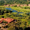 Aerial view from San Lameer Country Club