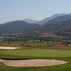 A view of green protected by bunkers at Wolf Creek Golf Resort