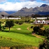 A view of the 18th hole at De Zalze Golf Club