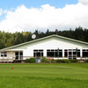 A view of the clubhouse at Whangamata Golf Club