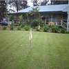 A view of the clubhouse and putting green at Kincumber Golf & Sports Club