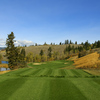 A view of the fairway and green from the 11th tee at The Rise Golf Club