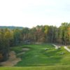 A view of the 12th fairway and green from the Woodhaven course at The Resort at Glade Springs