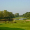 A view of the 18th hole at Hulman Links Golf Course