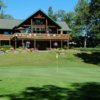 A view of the clubhouse and green #18 at Telemark Country Club
