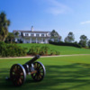 A view of the clubhouse at Calusa Pines Golf Club