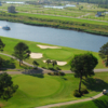 Aerial view of the 10th green at Palmetto Course from Myrtlewood Golf Club