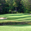 A view of the 13th green at Holly Course from Pinewild Country Club of Pinehurst