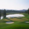 A view of the 3rd green at Lahontan Golf Club