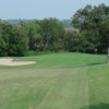 A view of a hole guarded by sand traps at Chester W. Ditto Golf Course