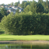 A view over the water of a green at Guildford Golf and Country Club
